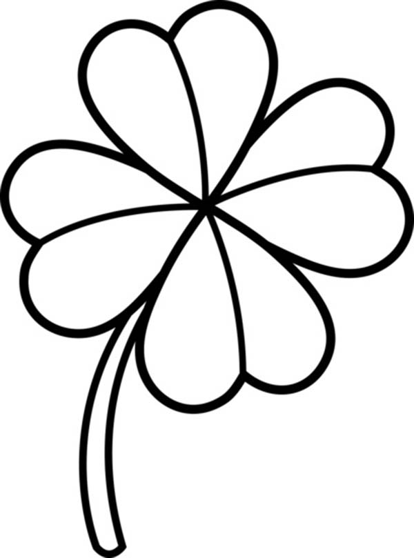 Four Leaf Clover Lineart Coloring Page Four Leaf Clover Lineart