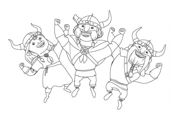 Mike The Knight Vikings Dance In Coloring Page