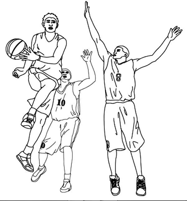 Basketball Player Assist In NBA Coloring Page