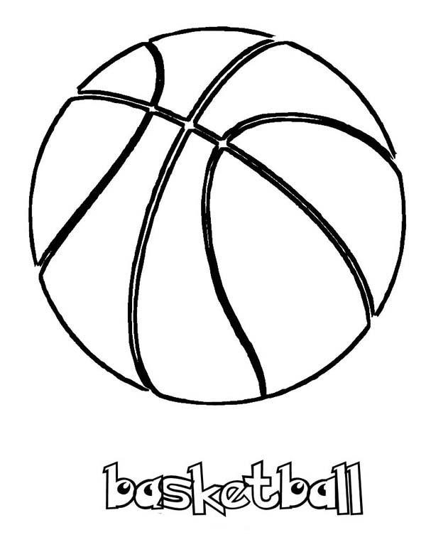 NBA Basketball Coloring Page: NBA Basketball Coloring Page – Color Luna