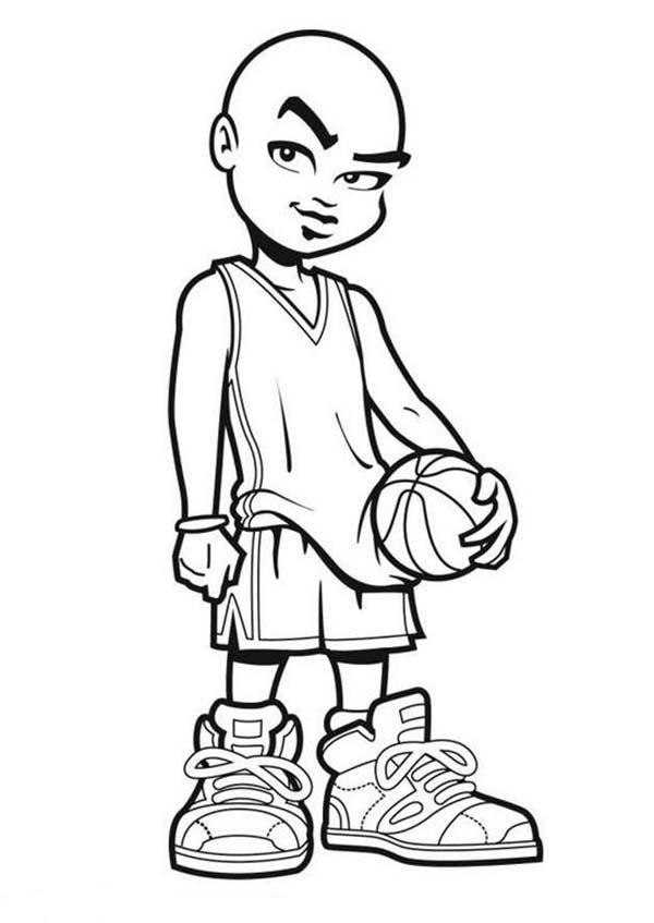 NBA Cartoon of Michael Jordan Coloring Page: NBA Cartoon of Michael ...