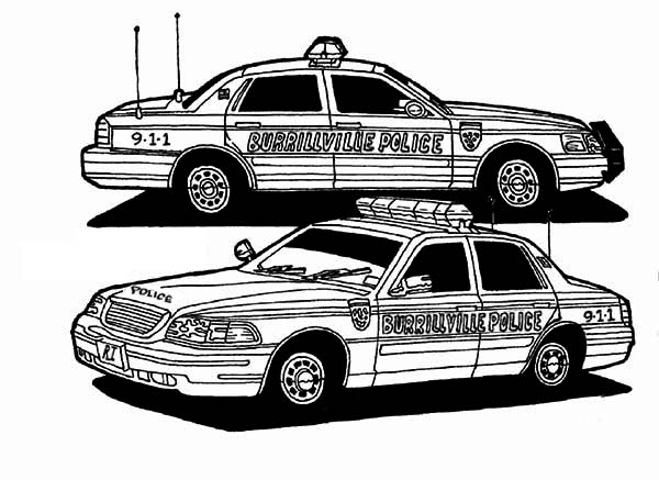 Police Car Colouring Pages Police Car Coloring Pages