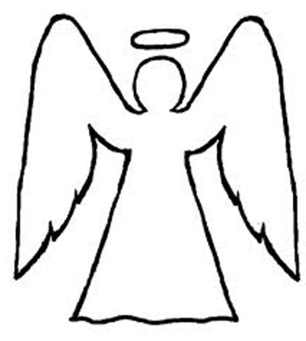 angels angels outline coloring page angels outline coloring pagefull size image