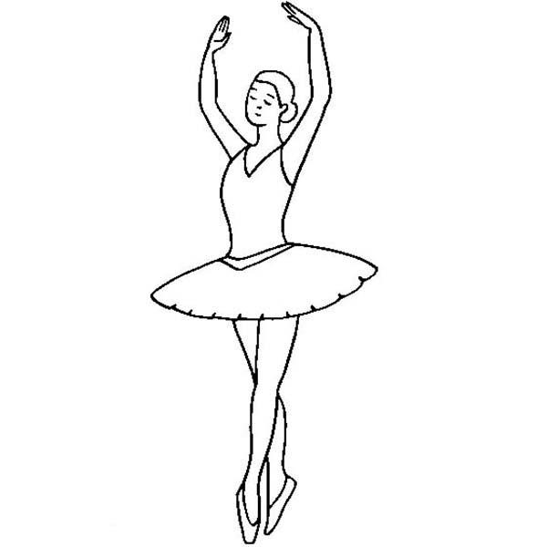 ballarina coloring pages