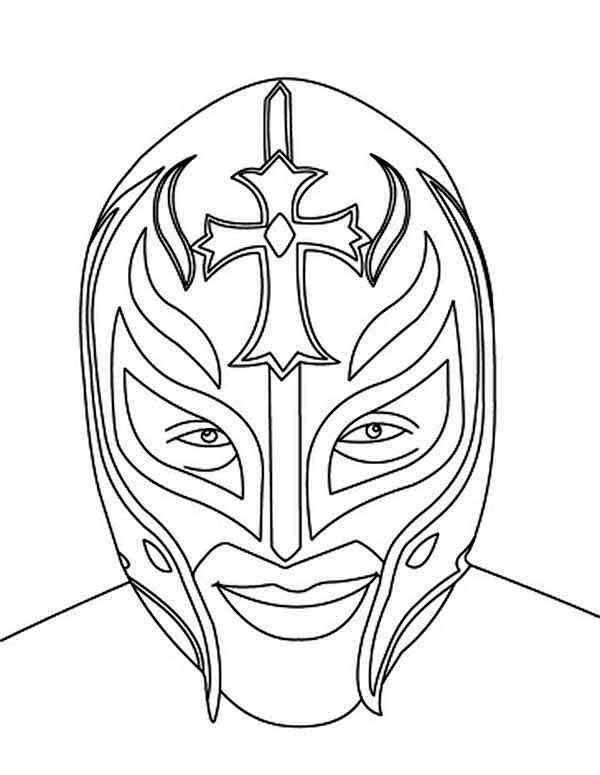 Picture of Rey Mysterio Coloring Page Picture of Rey Mysterio