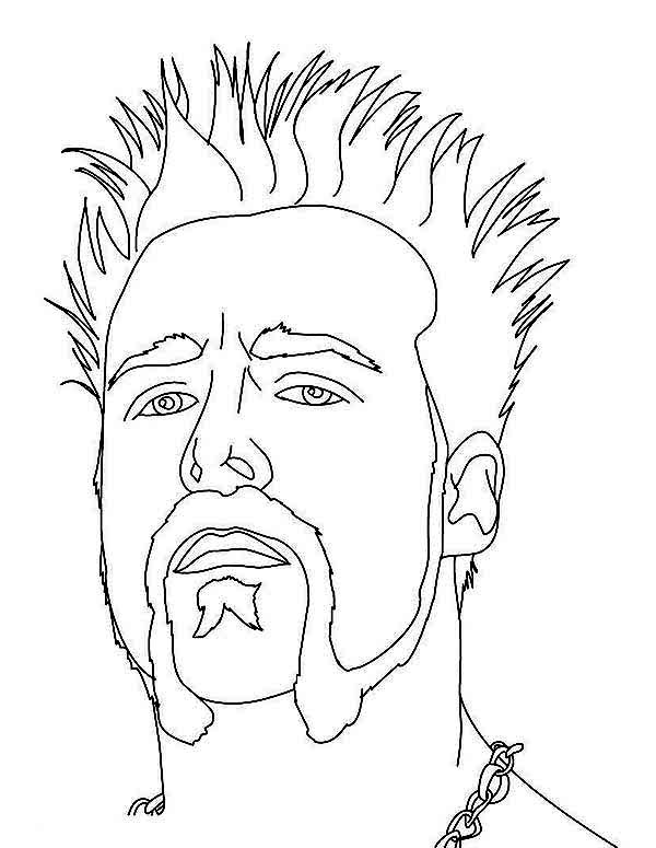 Wrestling WWE Opponent Coloring Page PageFull Size Image