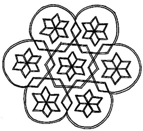 print cool design rangoli coloring page in full size - Cool Pictures To Color And Print