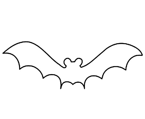 Bats Outline Coloring Page Bats Outline Coloring Page Color Luna