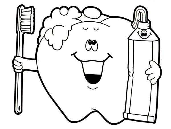 dental health brush your teeth for your dental health coloring page brush your teeth