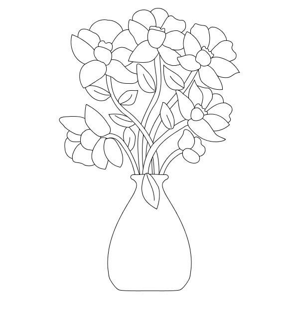 Flower Bouquet Coloring Page: Flower Bouquet Coloring Page – Color Luna