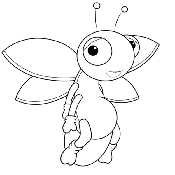 Firefly Cartoon Picture Coloring Page PageFull Size Image