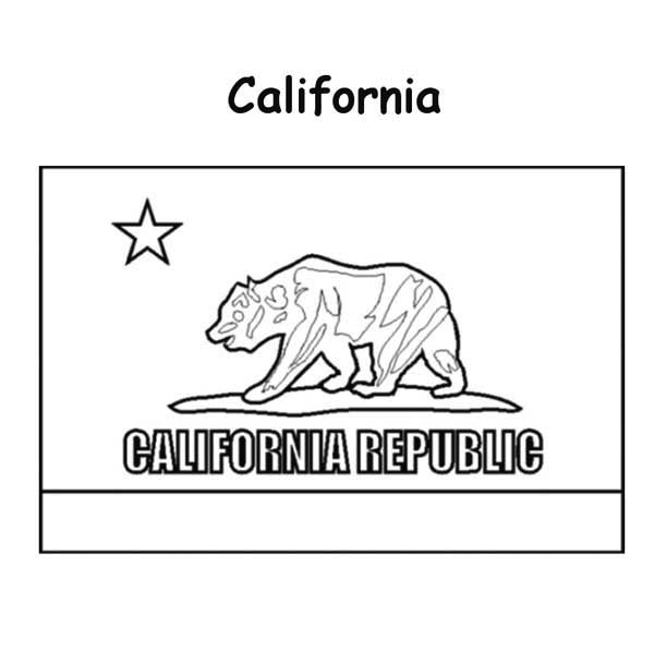 77 california bear coloring page california flag for Idaho state flag coloring page
