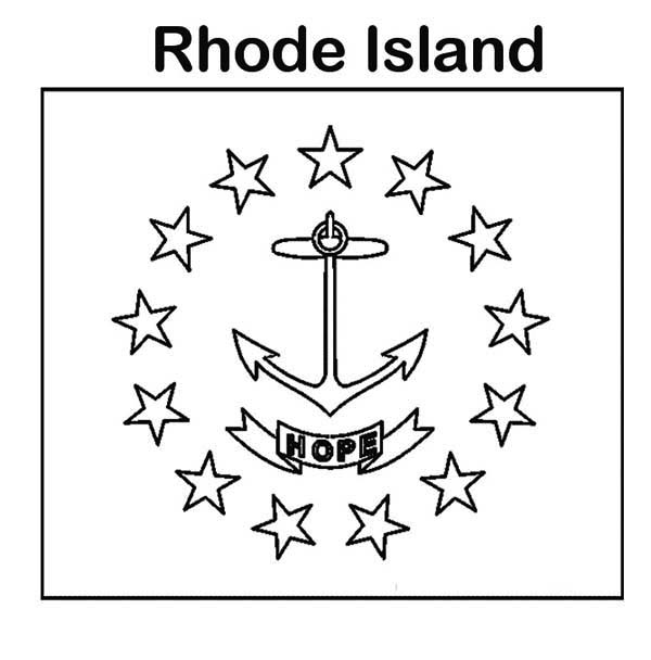 State Flag Of Rhode Island Coloring Page