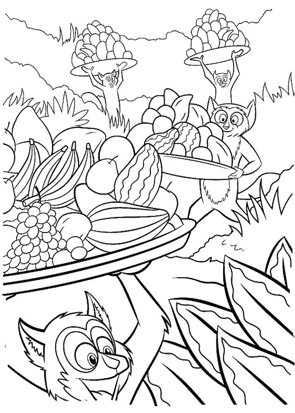 King Julien the King of Lemur Coloring Page: King Julien the King of ...
