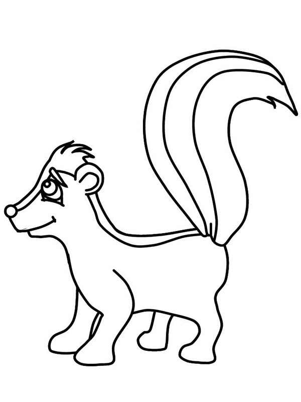 Skunk Smile Coloring Page: Skunk Smile Coloring Page – Color Luna