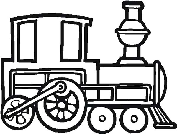 print old locomotive train coloring page in full size