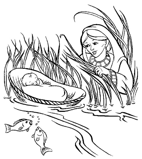 free printable baby moses coloring pages aquadiso com