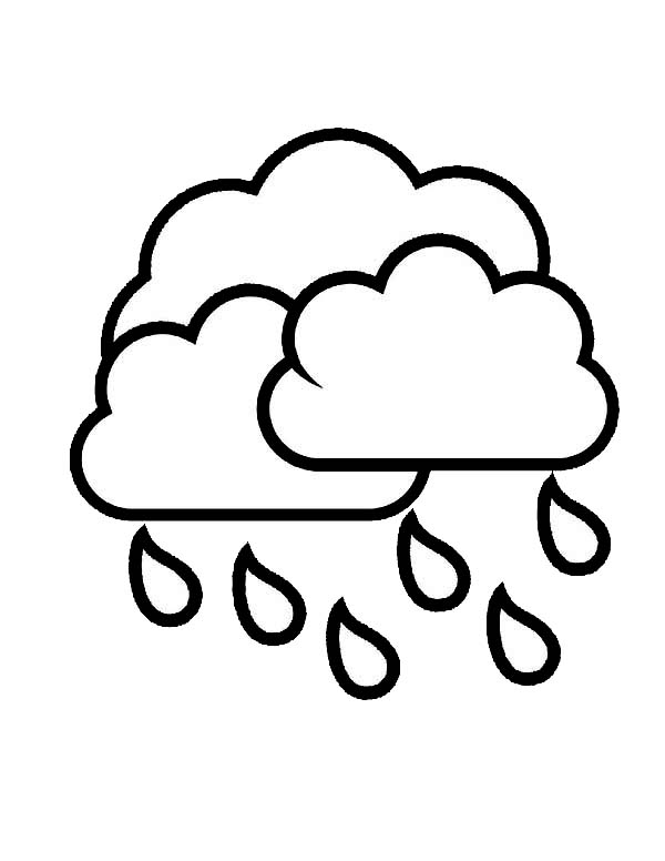 Raindrop from Cloud Coloring Page: Raindrop from Cloud Coloring Page ...
