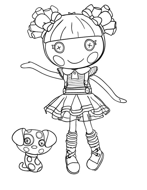 Scraps Stitched N Sewn From Lalaloopsy Coloring Page