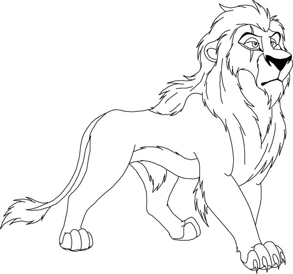 Scar from The Lion King Coloring Page: Scar from The Lion King ...