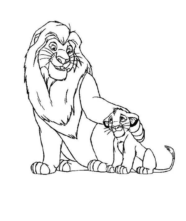 download print it - Mufasa Coloring Pages