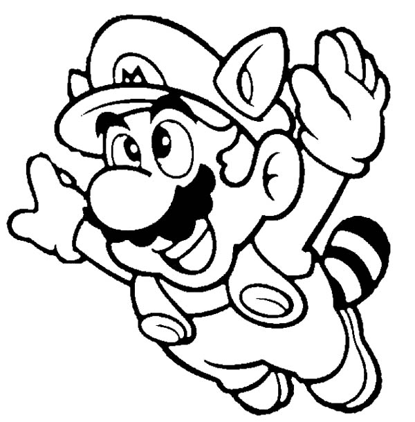 mario brothers super mario brothers fyling to th sky coloring page super mario brothers - Mario Coloring Page