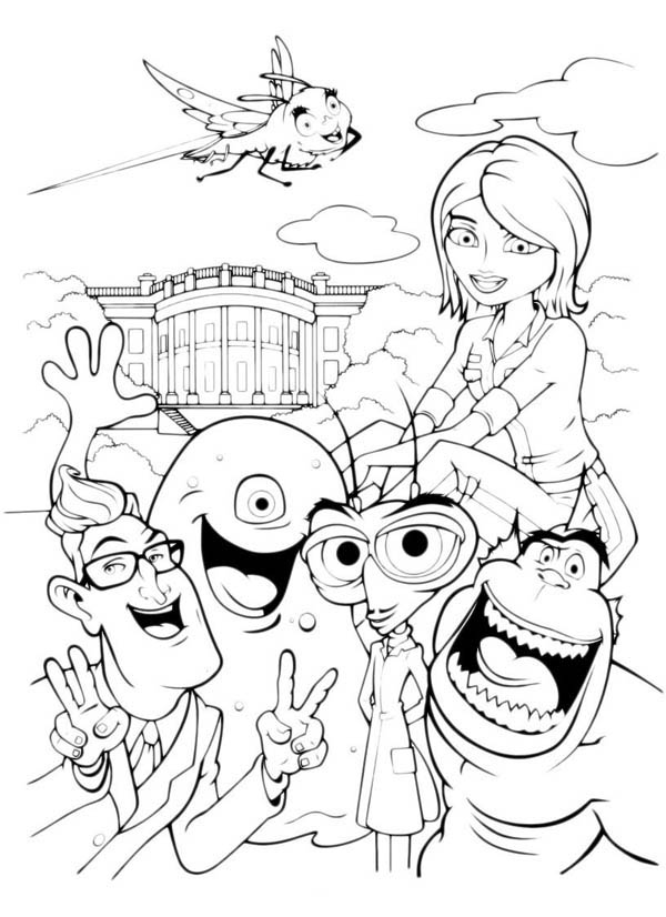 download print it - Space Jam Monstars Coloring Pages
