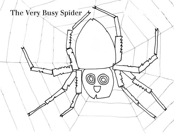 The Very Busy Spider Working on Spider Web Coloring Page: The Very ...