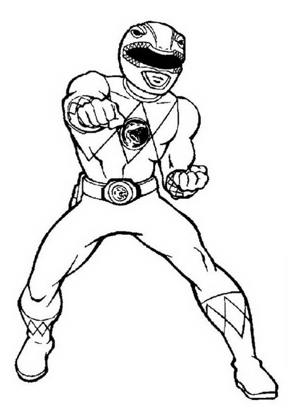 Power Rangers Deathly Punch Coloring Page PageFull