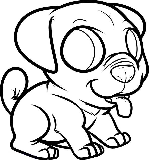 Chibi Pug Dog Coloring Page Color Luna