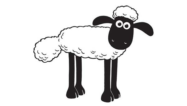 Picture of Shaun the Sheep Coloring Page: Picture of Shaun the Sheep ...