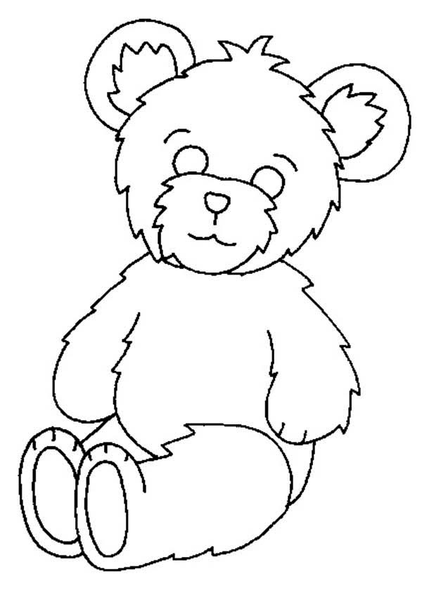 Teddy Bear Fluffy Coloring Page PageFull Size Image