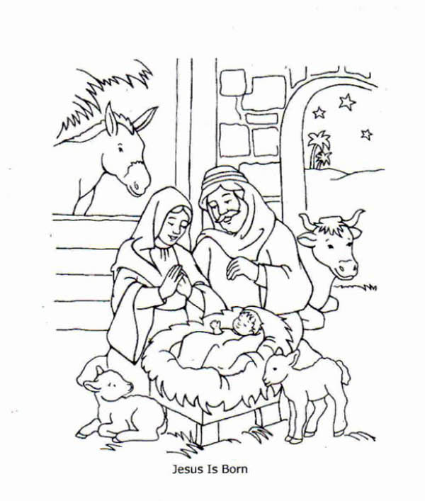 Jesus is Born and Jesus Love Me Coloring Page: Jesus is Born and ...