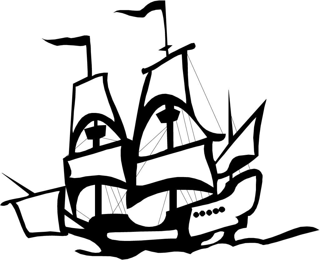 columbus ship in graphic on columbus day coloring page columbus
