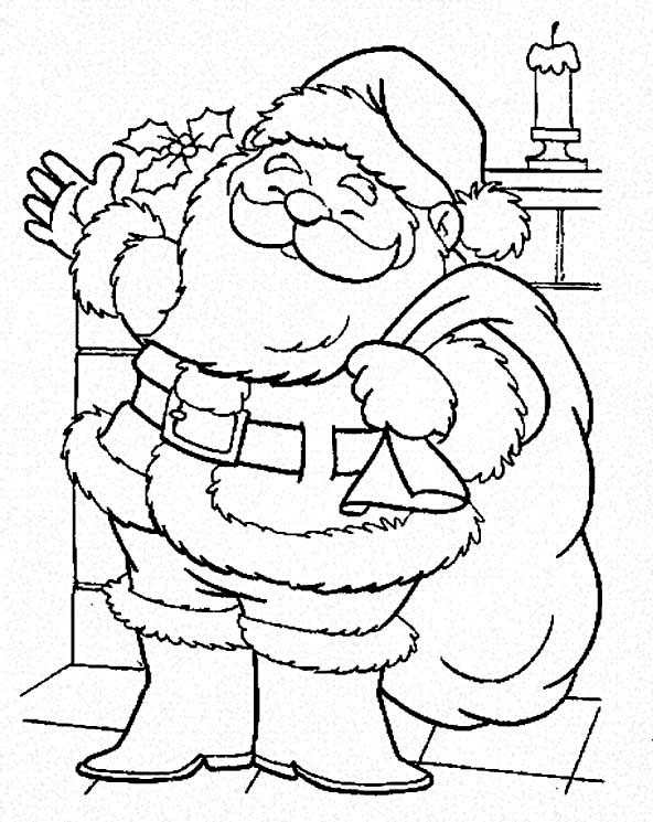 Christmas Santa Claus Is Coming To Town On Coloring Page