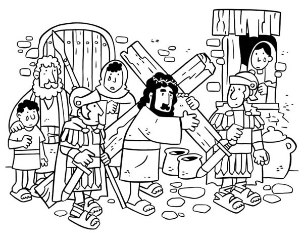 download print it - Coloring Pages Jesus Cross