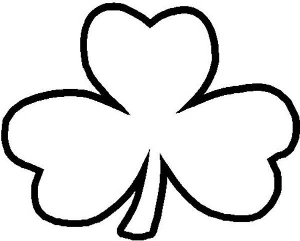 a common three leaf clover coloring page