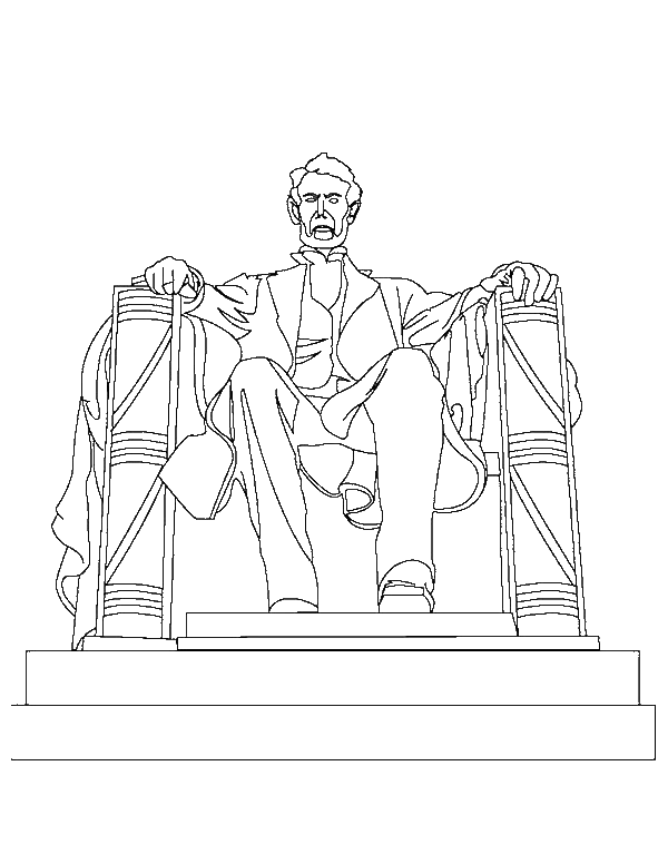 a drawing of abraham lincoln memorial coloring pagepng