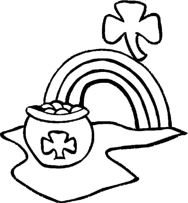 pot of gold coloring pages - a pot of gold on st patricks day coloring page color luna