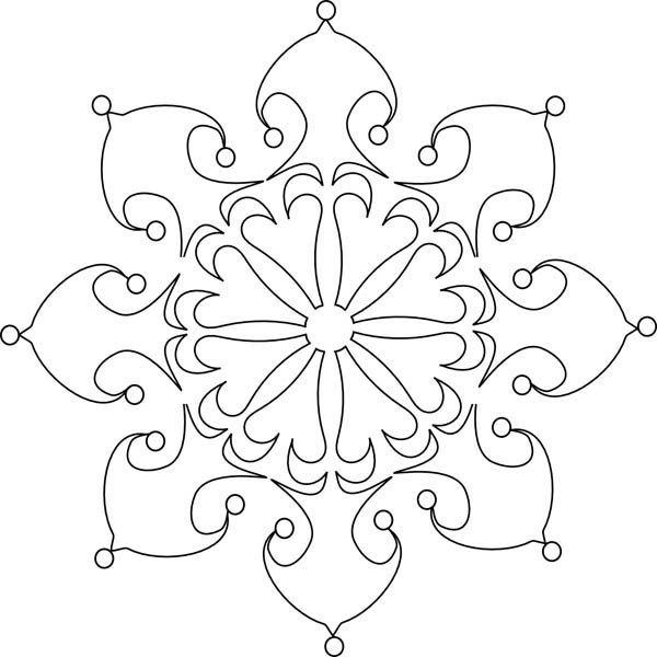 Snowflakes, : Beautiful Christmas Snowflakes Coloring Page
