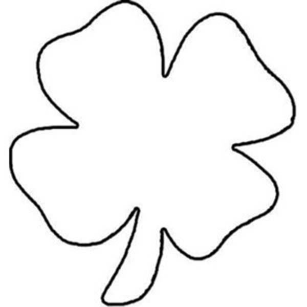 Childrens Drawing Of Four Leaf Clover Coloring Page
