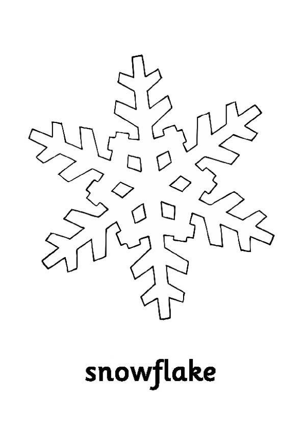 Snowflakes, : Cold Snowflakes Coloring Page