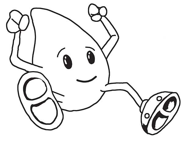 Raindrop, : Cute Raindrop Boy Coloring Page