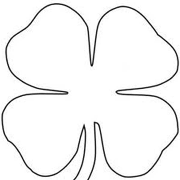 Four Leaf Clover Sheats Coloring Page