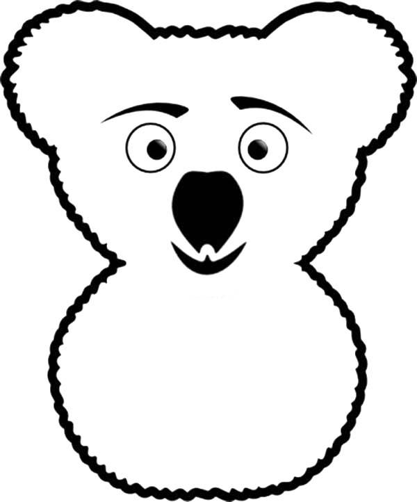 Koala Bear, : Funny Koala Bear Coloring Page