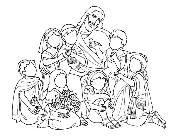 jesus love all of us and jesus love me coloring page
