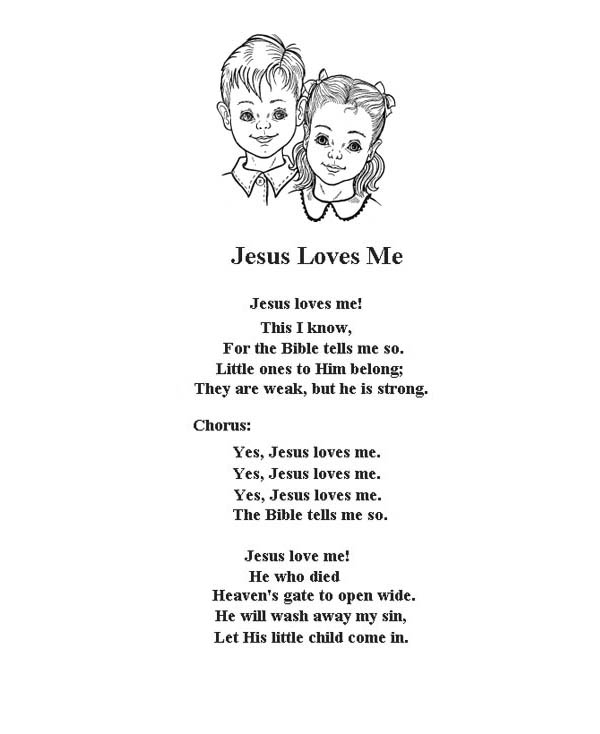 Jesus Love Me Song Coloring Page  Color Luna
