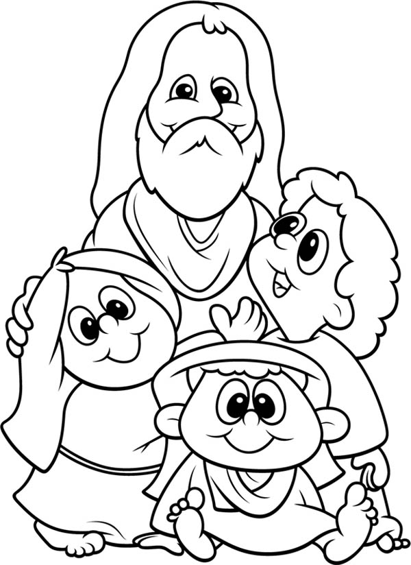 jesus love me and all the children in the world coloring page - Jesus Children Coloring Pages