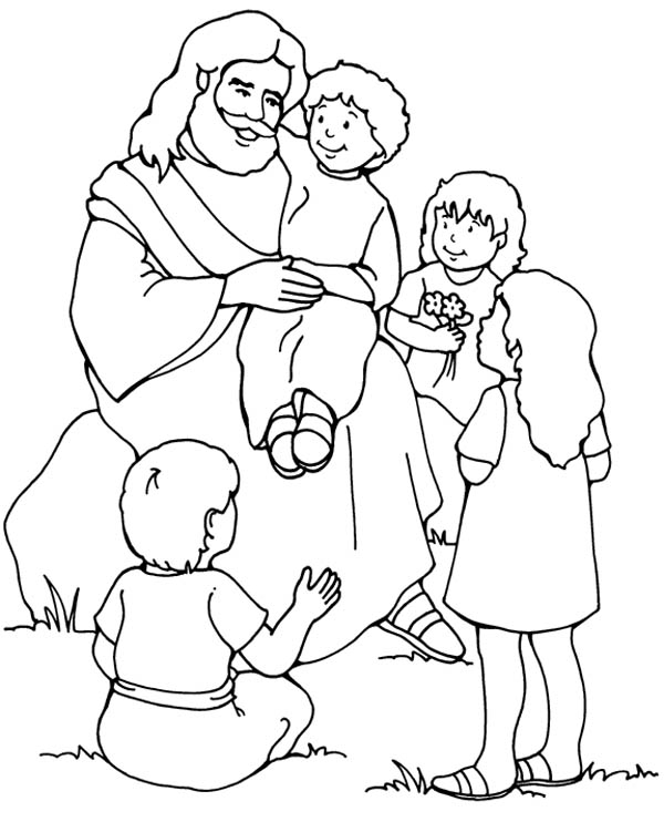 Jesus Loves Me, : Jesus Love Me and the Other Children too Coloring Page