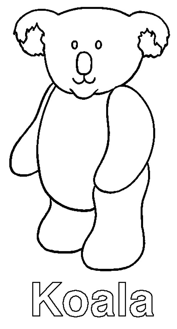 k is for koala bear coloring pages - photo #5